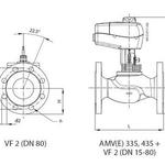 Клапан регулирующий данфосс ВФ2