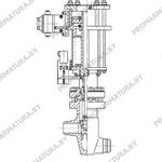 Клапан запорный сидьфонный с пневмоприводом НЗ С96571-080