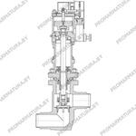 Клапан запорный сидьфонный с пневмоприводом НЗ ТД96569