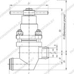 Клапан запорный сильфонный У26421 НПФ ЦКБА