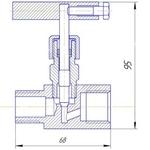 Чертеж клапана игольчатого с комбинированным соединением