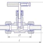 Чертеж игольчатого клапана 15с54бк с СШН